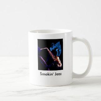 Just Smokin' Jazz-cropped, Smokin' Jazz Classic White Coffee Mug