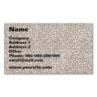 Just Snow Leopard Business Card Magnet