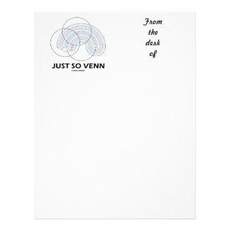Just So Venn (Venn Diagram) Letterhead