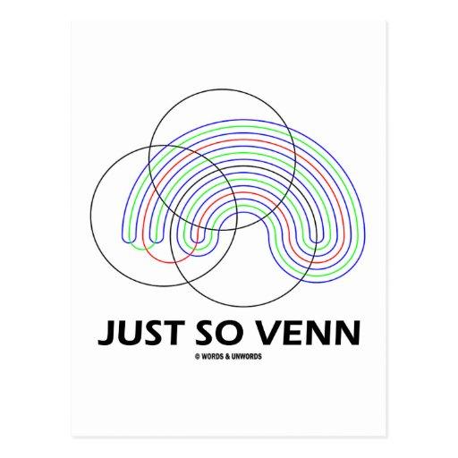 Just So Venn (Venn Diagram) Postcard