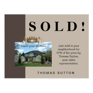 Just Sold Real Estate Postcard Crown
