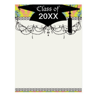 just some funky damask graduation post card
