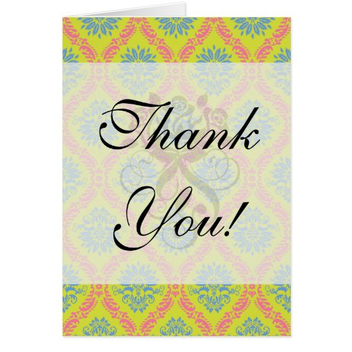 just some funky damask stationery note card