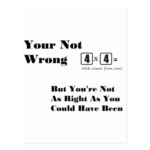 Just Some Random 'Your Not Wrong' Items Postcard