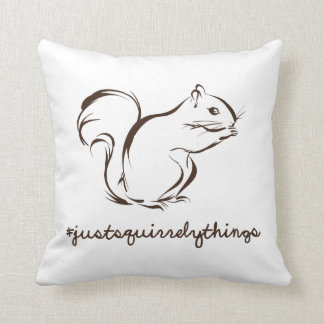 Just Squirrely Things Squirrel Throw Pillow