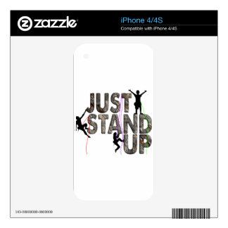 Just Stand Up Skins For The iPhone 4