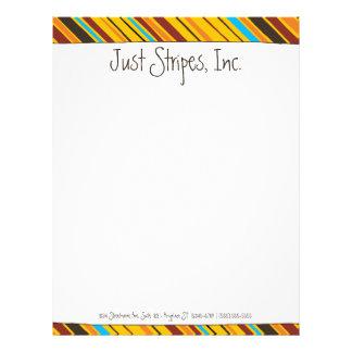 Just Stripes Custom Letterhead