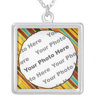 Just Stripes Custom Photo Necklace