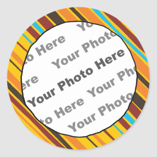 Just Stripes Custom Photo Stickers