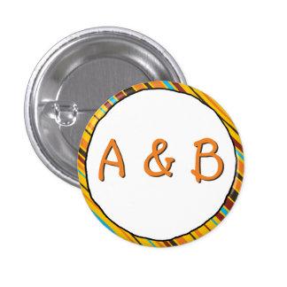 Just Stripes Monogram Button
