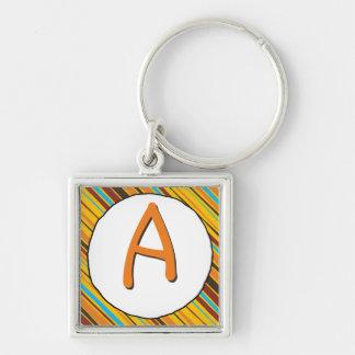 Just Stripes Monogram Keychain