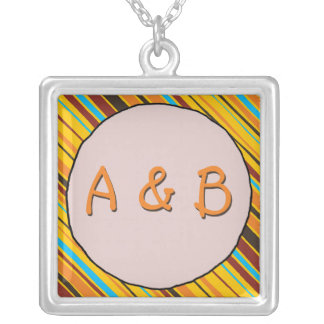 Just Stripes Monogram Necklace