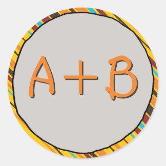 Just Stripes Monogram Stickers