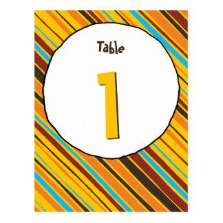 Just Stripes Table Number Card Postcard