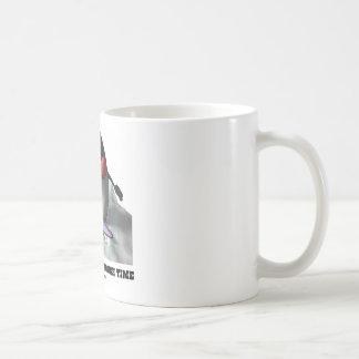 Just Surfin' Through Time (Duke On Surfboard) Classic White Coffee Mug