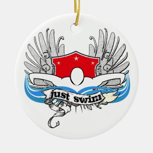 Just Swim Ceramic Ornament