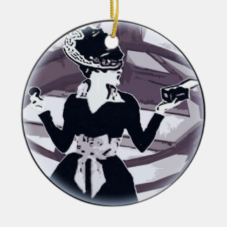 Just that girl Round Ceramic Ornament