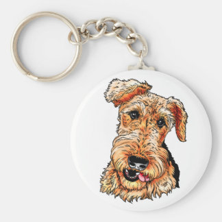 Just the Airedale Terrier Basic Round Button Keychain