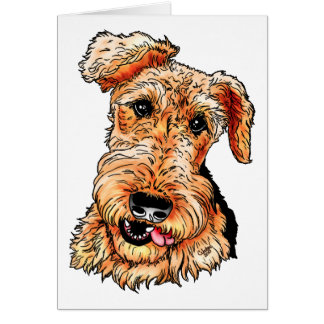 Just the Airedale Terrier Card