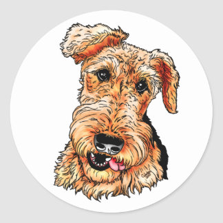 Just the Airedale Terrier Classic Round Sticker