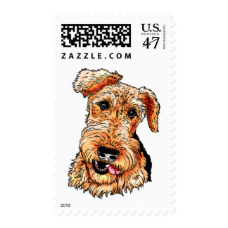Just the Airedale Terrier Postage