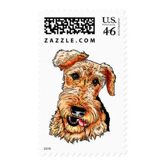 Just the Airedale Terrier Postage Stamp