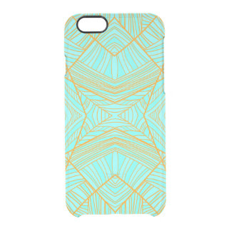 Just the Blues Geo Pattern by KCS Uncommon Clearly™ Deflector iPhone 6 Case