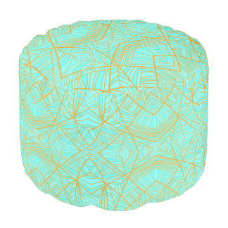 Just the Blues Round Pouf by KCS