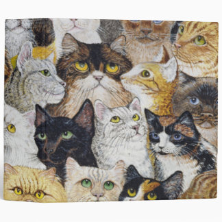 Just the Cat's Whisker 3 Ring Binder