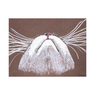 JUST THE CATS WHISKERS STRETCHED CANVAS PRINT