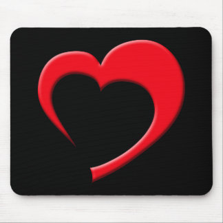 Just The Heart II Mousepad (red on black)