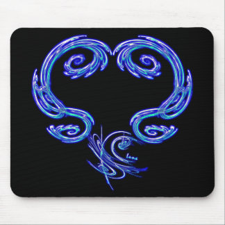 Just The Heart Mousepad (Black)