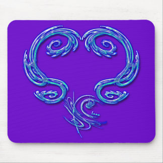 Just The Heart Mousepad (purple)