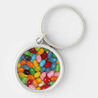 Just The Jelly Beans Silver-Colored Round Keychain
