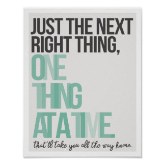 """Just the Next Right Thing 11""""x14"""" Art Print II"""