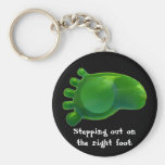 Just the Right Foot Key Chain