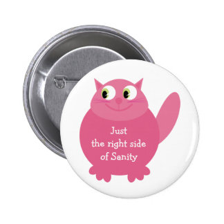 Just the right side of Sanity cat button / badge