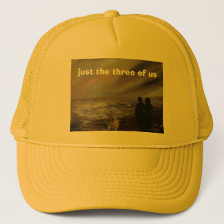 just the three of us trucker hat