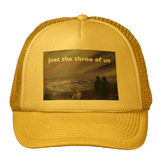 just the three of us trucker hat