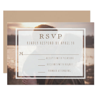 Just the Two of Us Modern Wedding Destination RSVP Card