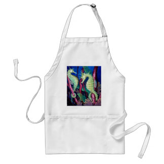 Just The Two Of Us - Seahorse Art Adult Apron