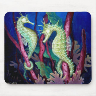 Just The Two Of Us - Seahorse Art Mouse Pad