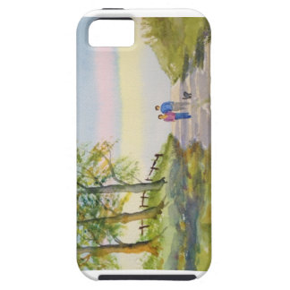 Just the Two of Us Walking the Dog WC Phone Case