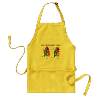 Just Think Healthy Heart (Diastole Systole) Adult Apron