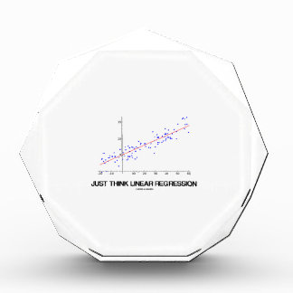 Just Think Linear Regression (Statistics) Acrylic Award