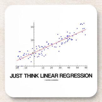 Just Think Linear Regression (Statistics) Coaster