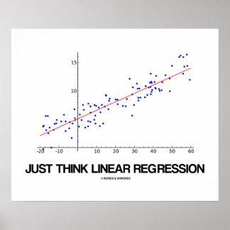 Just Think Linear Regression (Statistics) Print