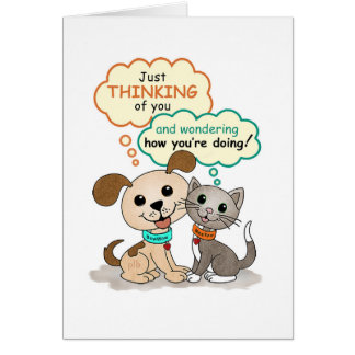 Just thinking of you... (BowWow & MeeYow) Card