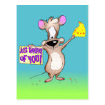 Just thinking of You Mouse Post Card