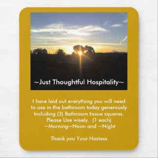 Just Thoughful Hospitality Mouse Pad